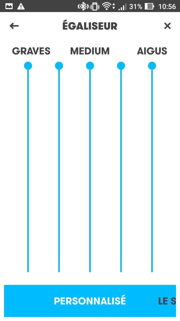Mixeur de volume de l'application BOOM