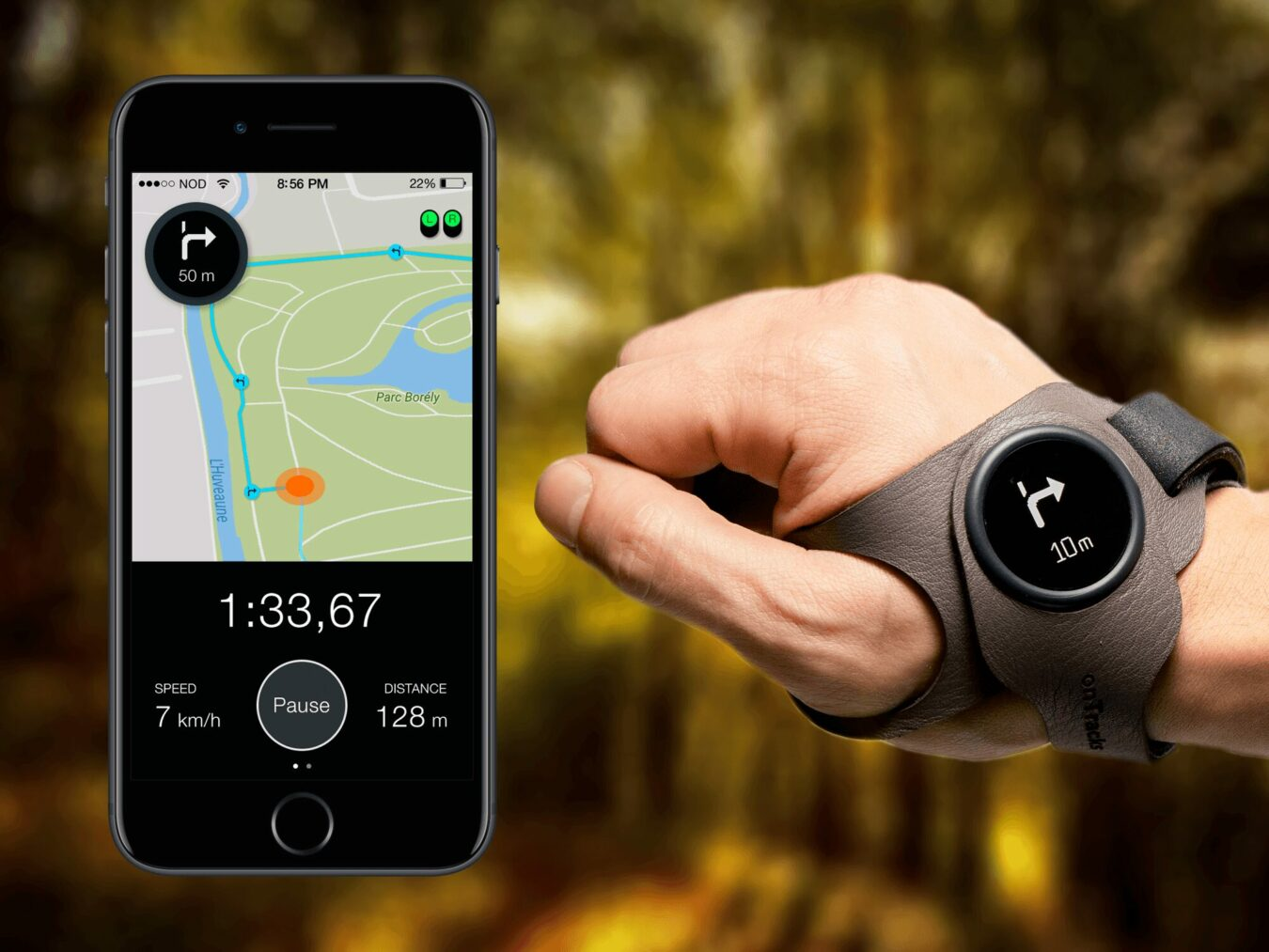 Photo de onTracks – Le GPS qui se porte aux poignets