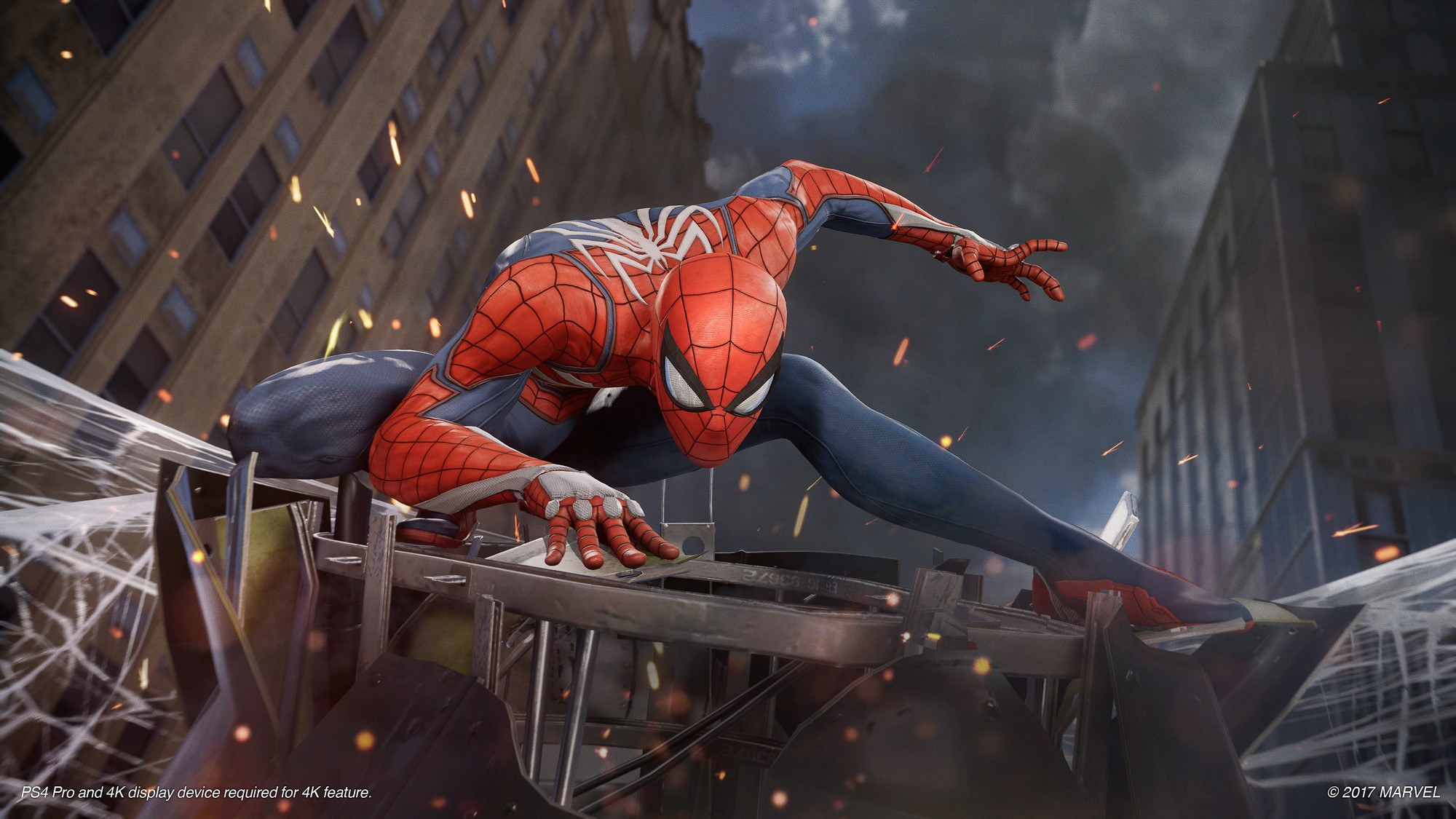 Spiderman PS4 art