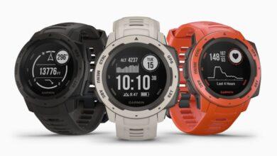 Photo de Garmin Instinct, une montre GPS multifonctions taillée pour l'aventure