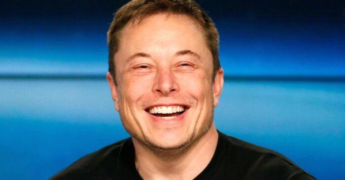 Elon Musk smilling