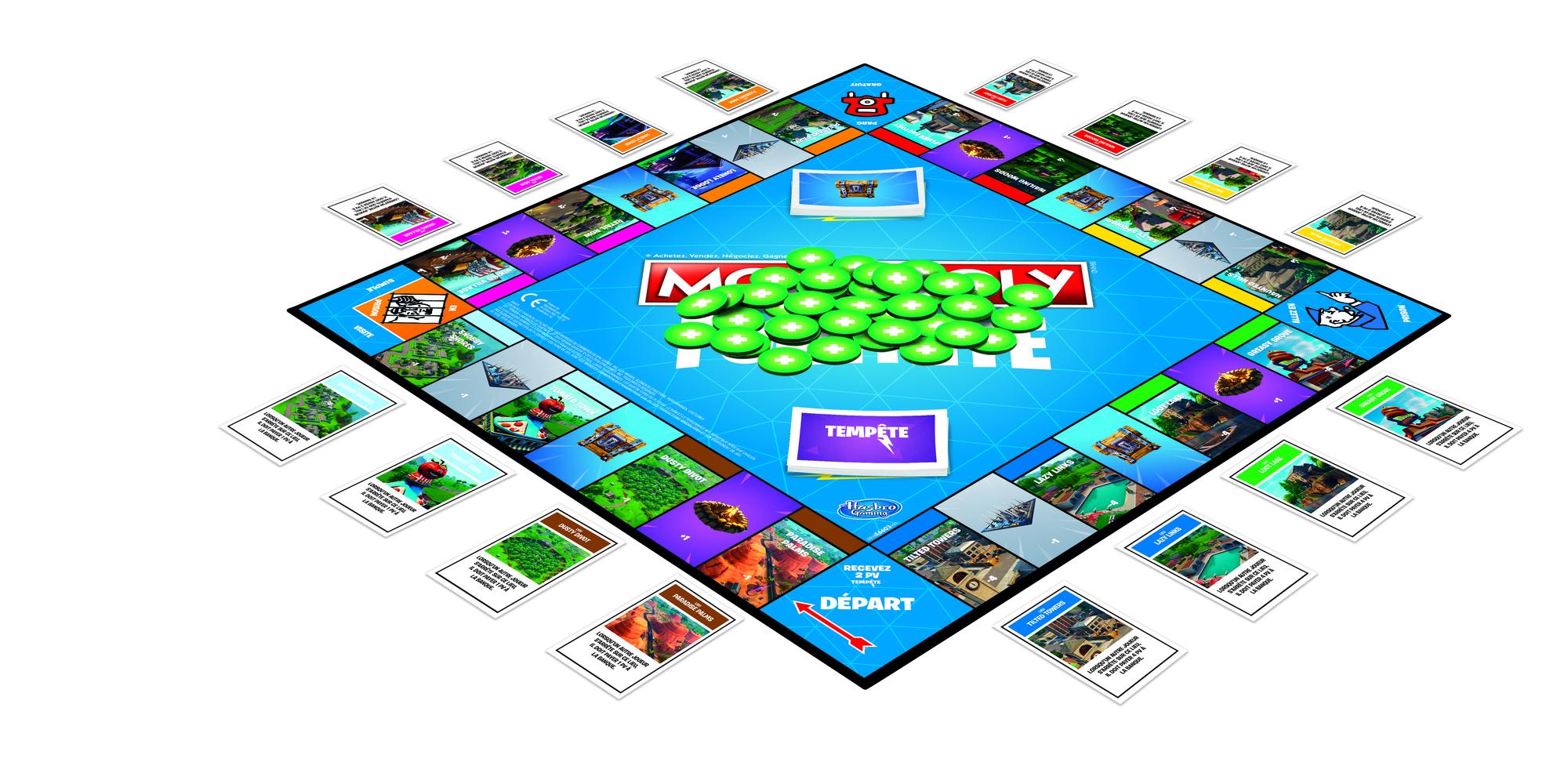 Monopoly Fortnite le jeu de plateau