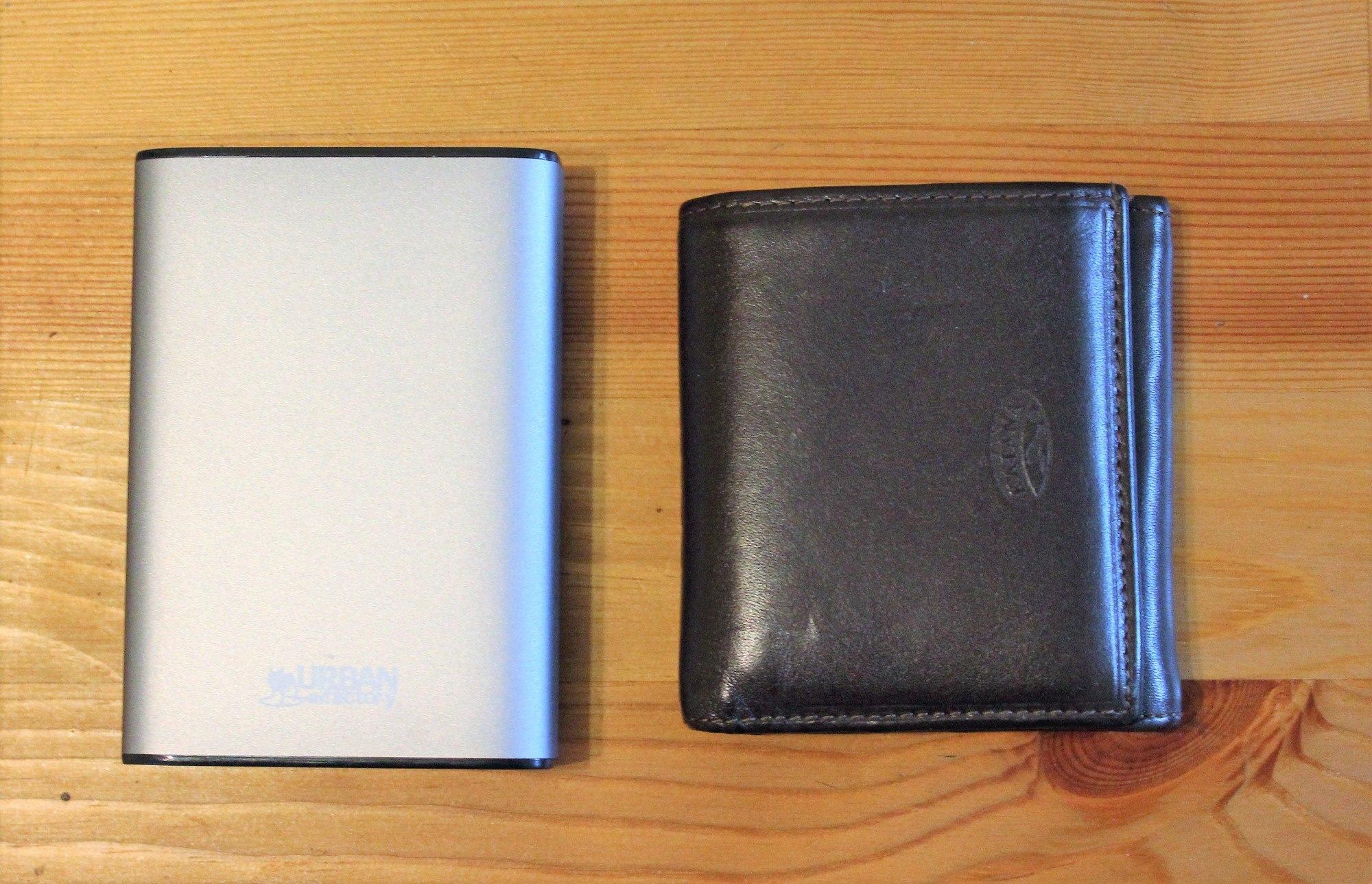 De la taille d'un portefeuille