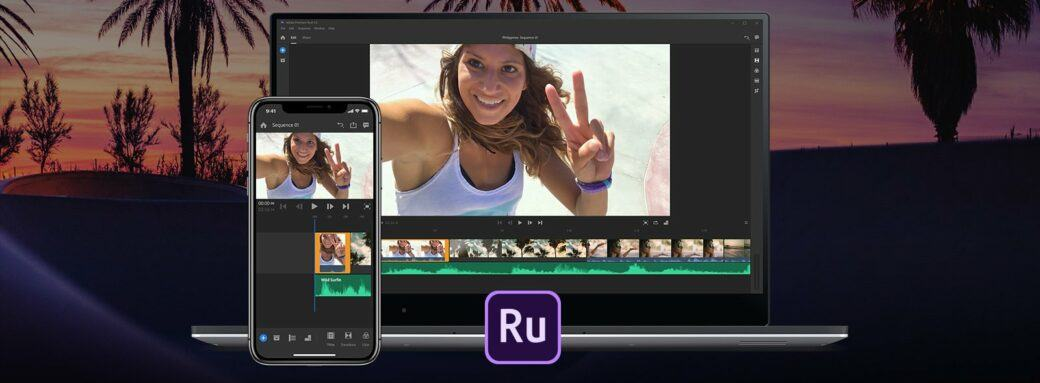 éditeur vidéo Adobe Premiere Rush pour Youtubers