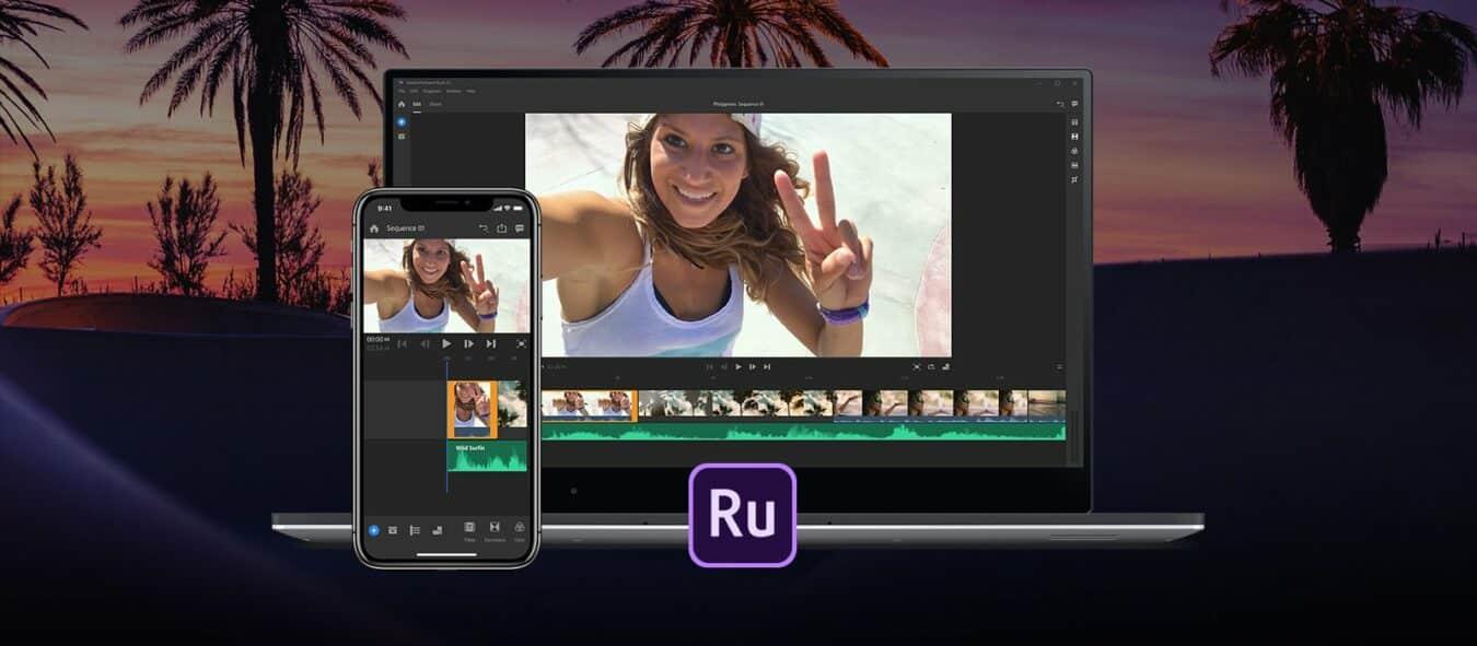 Photo de Adobe Premiere Rush, l'éditeur vidéo dédié aux YouTubers