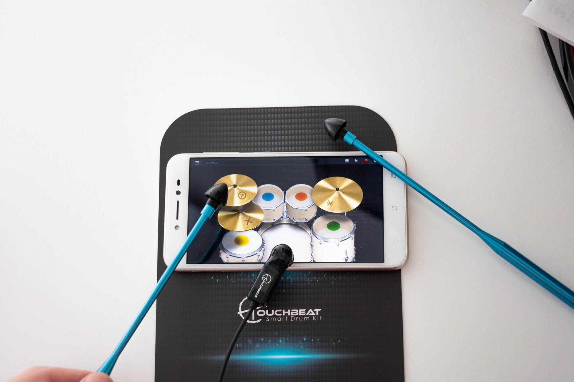Touchbeat Smart Drum kit : dispositif