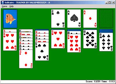 Le Solitaire sous Microsoft Windows XP