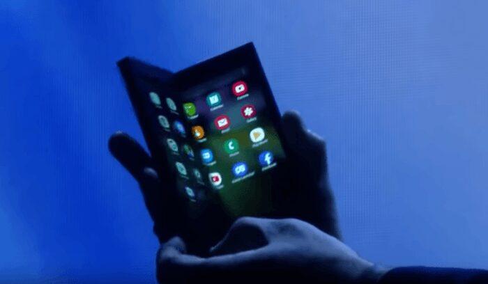 Image extraite du live de la conférence Samsung de San Francisco