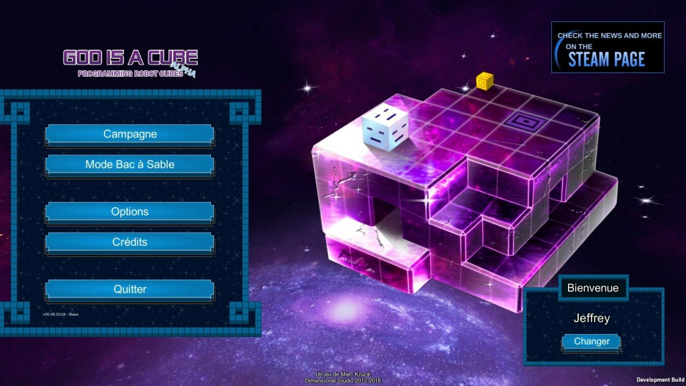 Photo de God is a Cube, puzzle game alliant programmation symbolique et jugeote