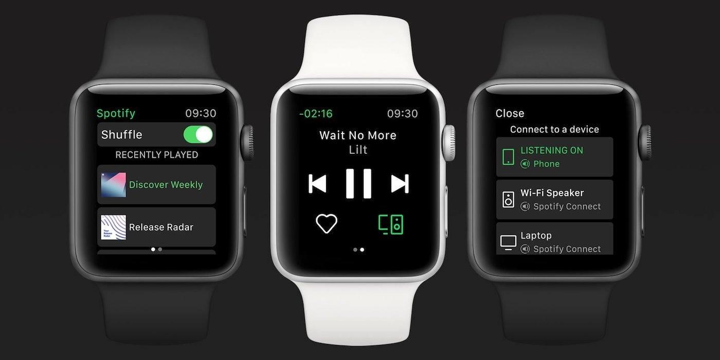 Spotify arrive sur Apple Watch