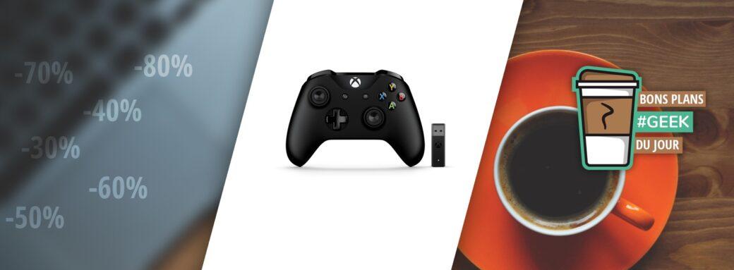 Header BonsPlansGeek Manette Xbox One