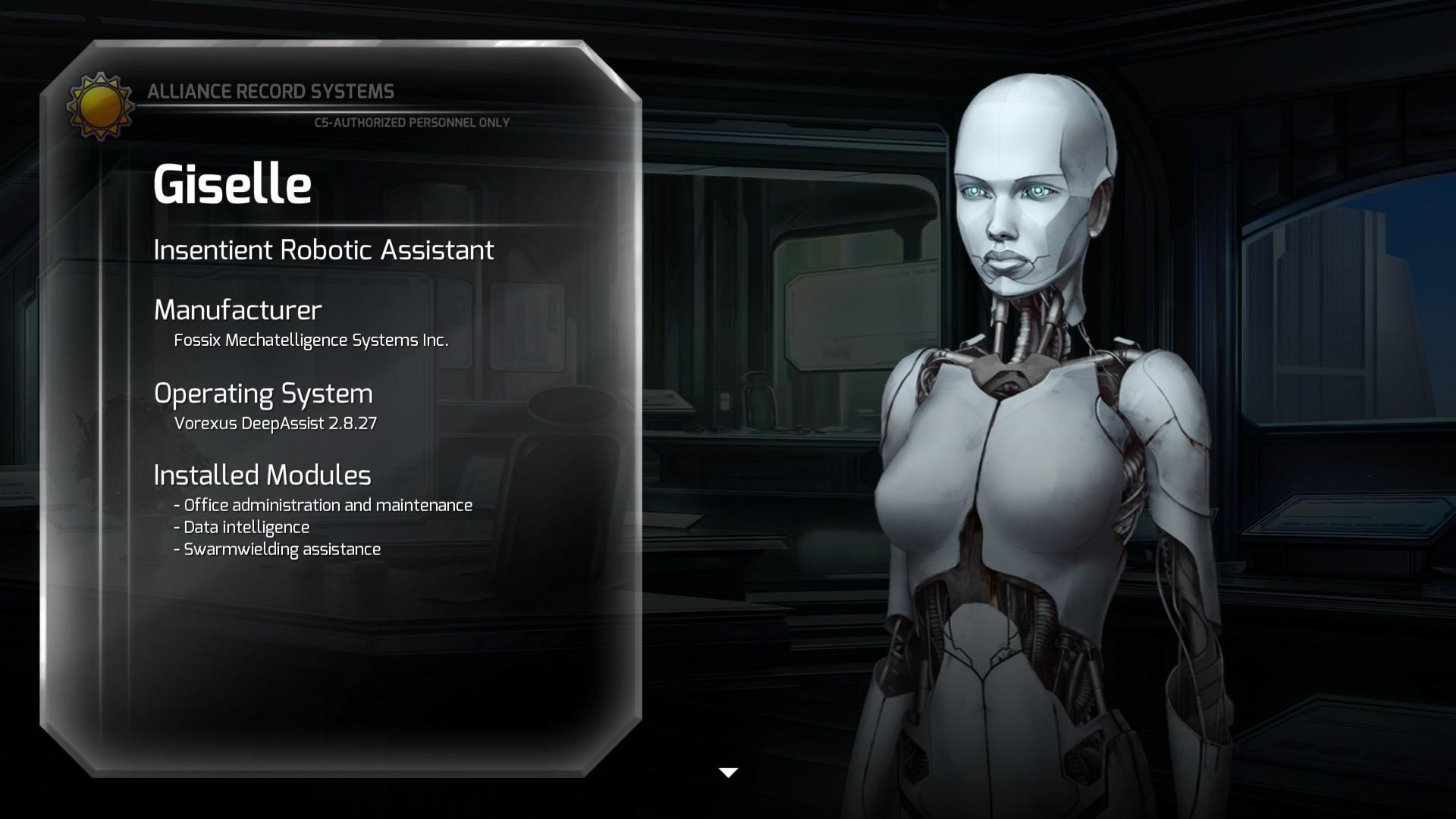 Gisele une androide alliée