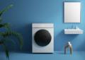Lave-linge Xiaomi avec fond bleu