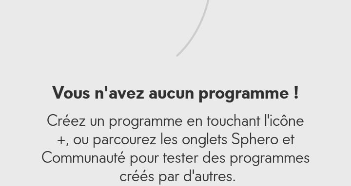 Sphero Edu-Aucun programme