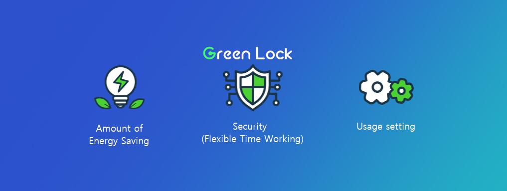 Green lock Hans Creative