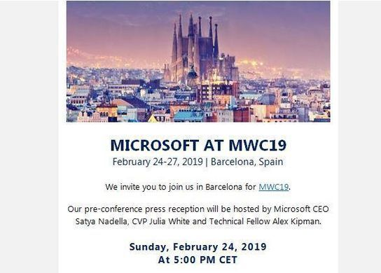 Invitation MWC microsoft