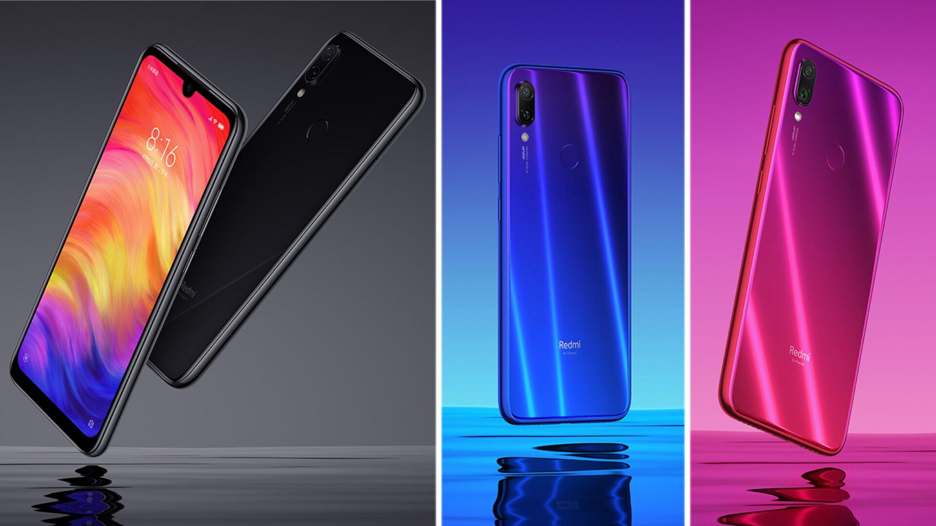 Toutes les couleurs du Xiaomi Redmi Note 7