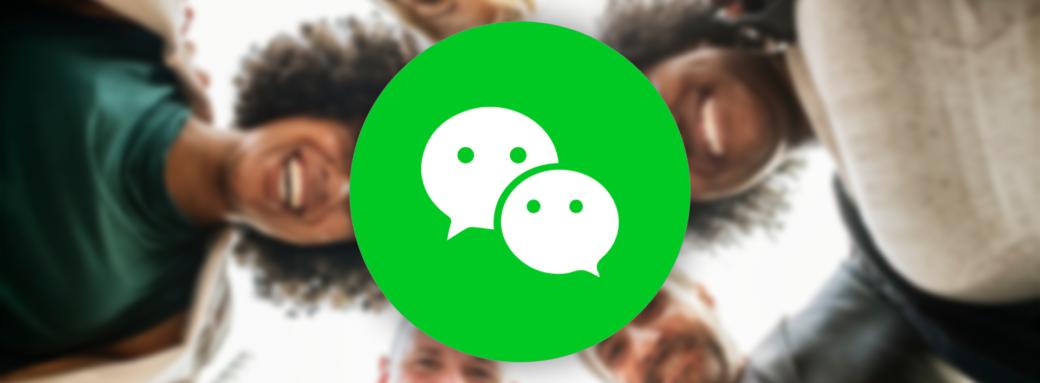 Logo Wechat sur fond people