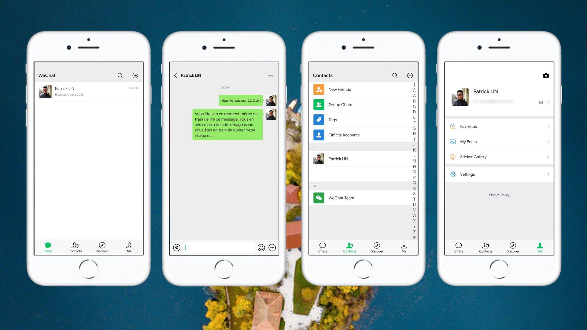 Captures d'écrans du Wechat 7.0