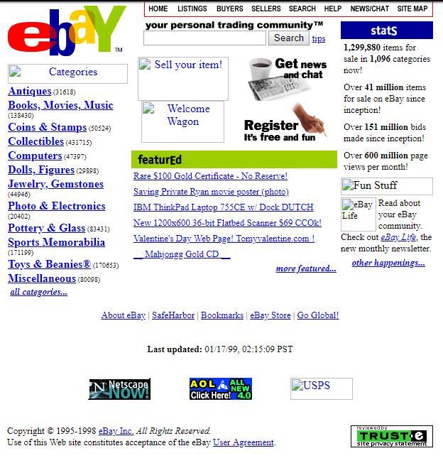 Rétro 1999 : eBay