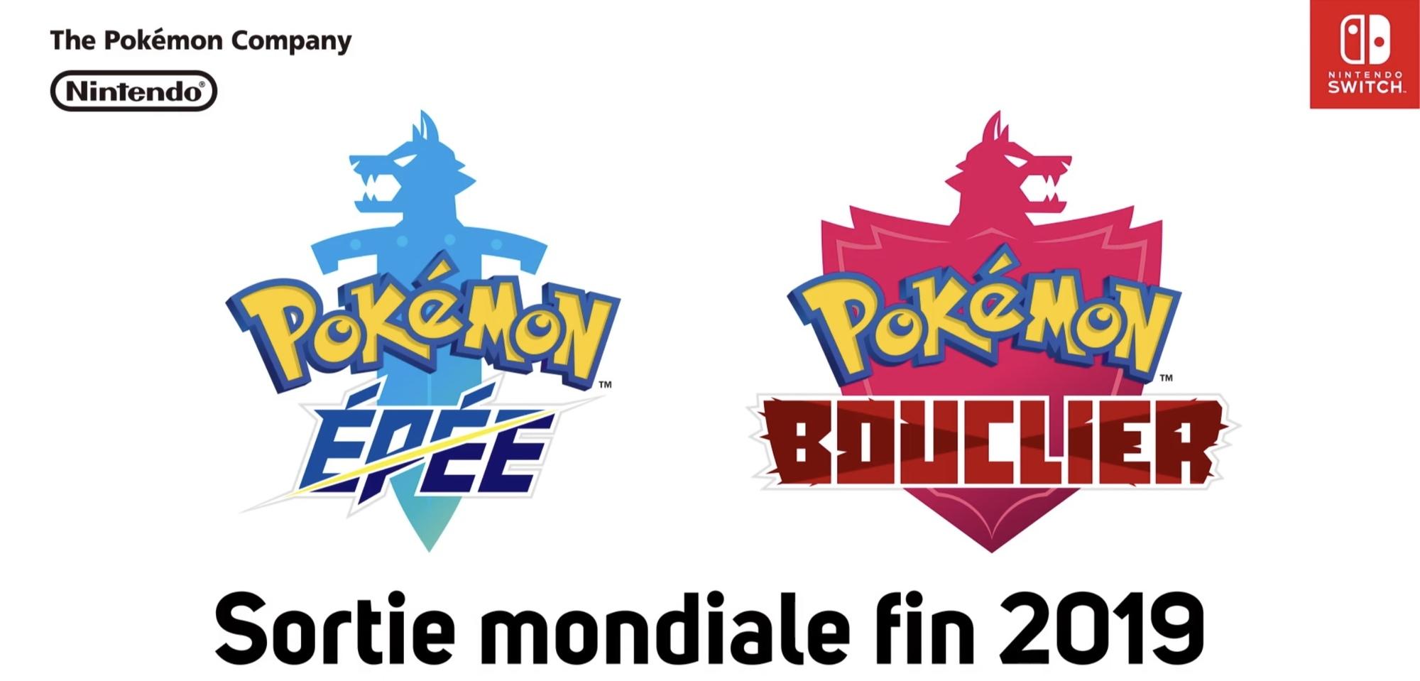 Sortie Pokémon Épée et Bouclier