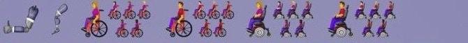 Le handicap dans les emojis