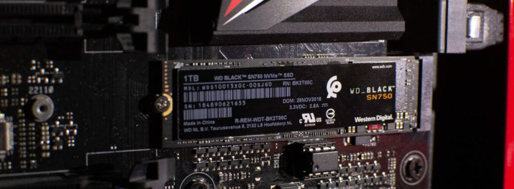 Visuel du SSD WD SN750 NVMe