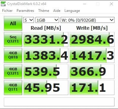CrystalDiskMark SN750 NVMe