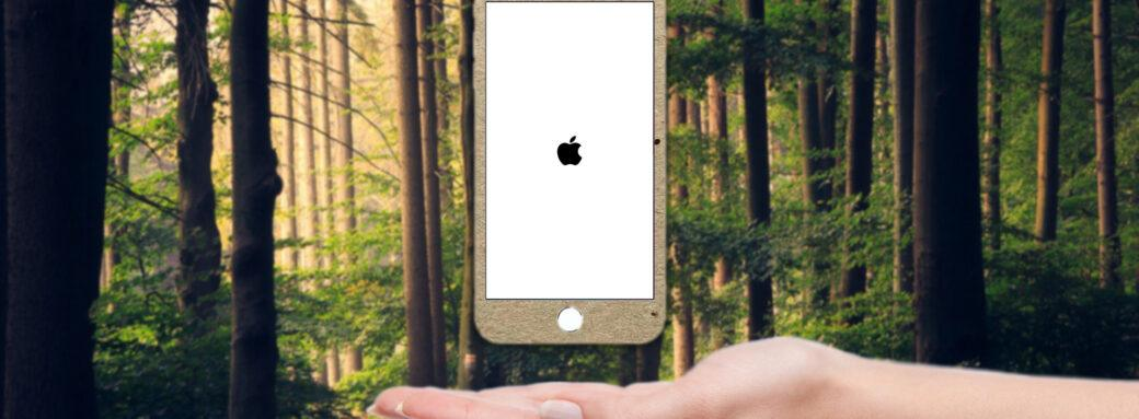 iPhone en bois