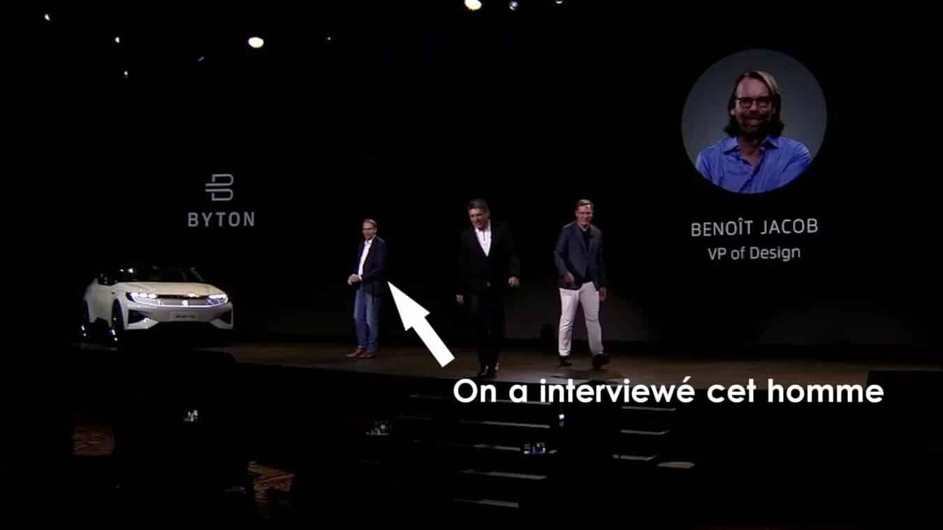 Photo de BYTON – Interview du VP du design Benoît Jacob au CES 2019 – La boucle est bouclée