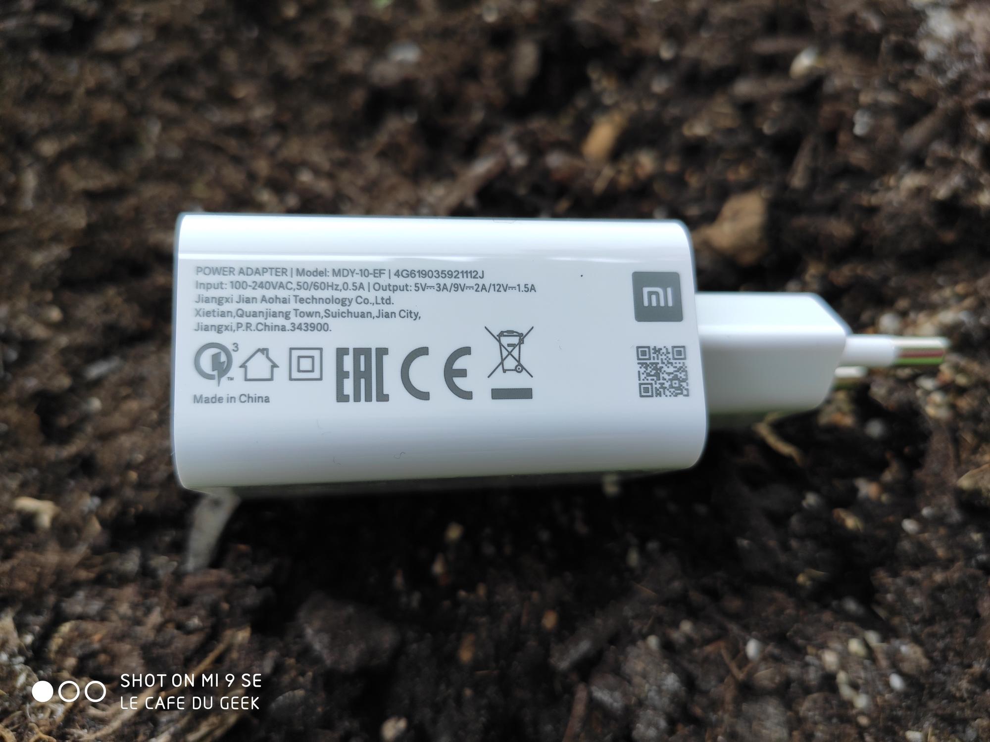 Chargeur Xiaomi Mi 9 SE
