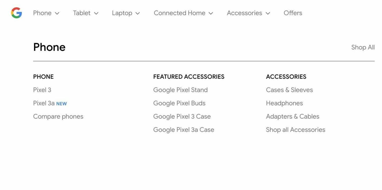 Google Pixel 3a Google Store