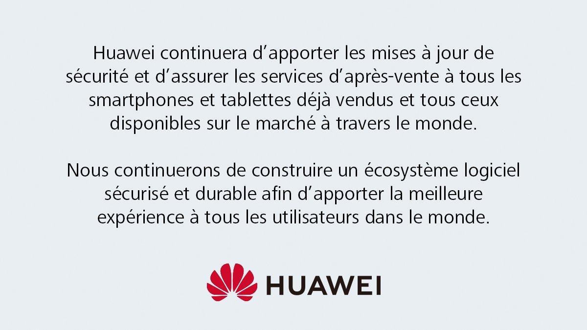 Tweet de Huawei