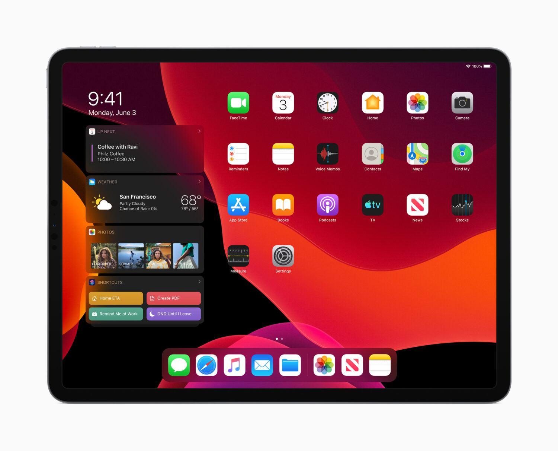 iPadOS et son écran d'accueil