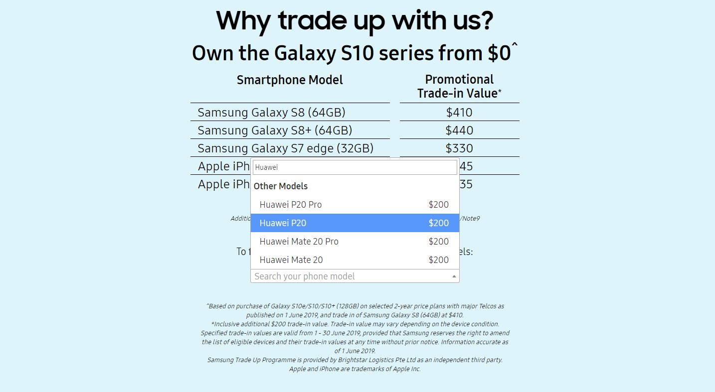 Samsung échange