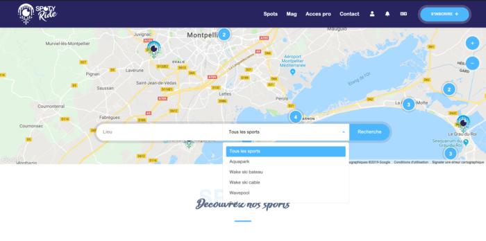 Spotyride : La carte interactive