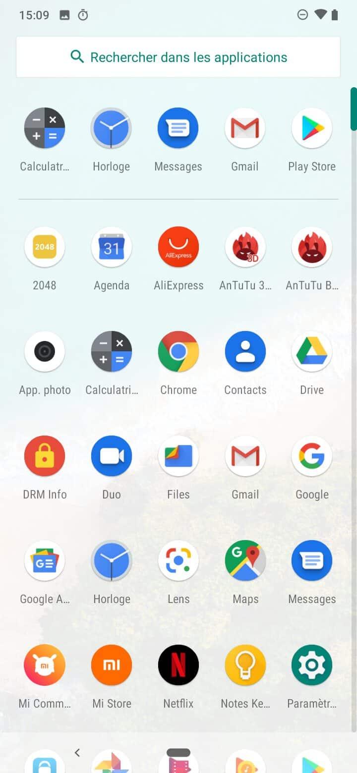 Drawer Xiaomi Mi A3