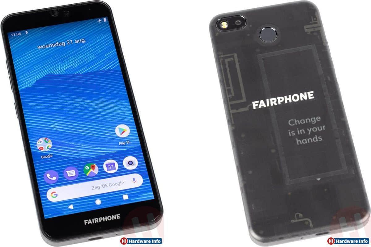 Fairphone 3 avant et arrière