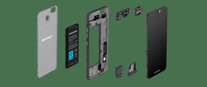 Fairphone 3 vue éclatée