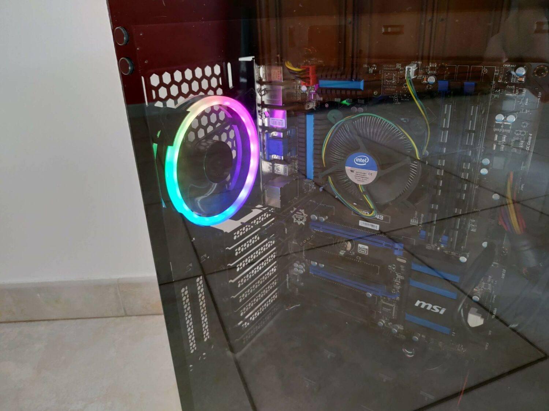 Ventilateur RGB boitier Résultat Final boitier Elite Shark monté