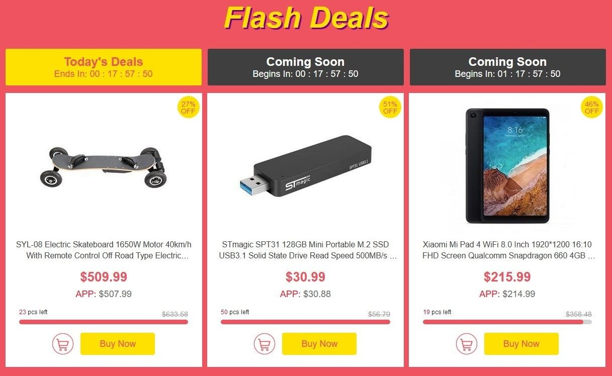 Flash Deals de Geekbuying (the Big sale)