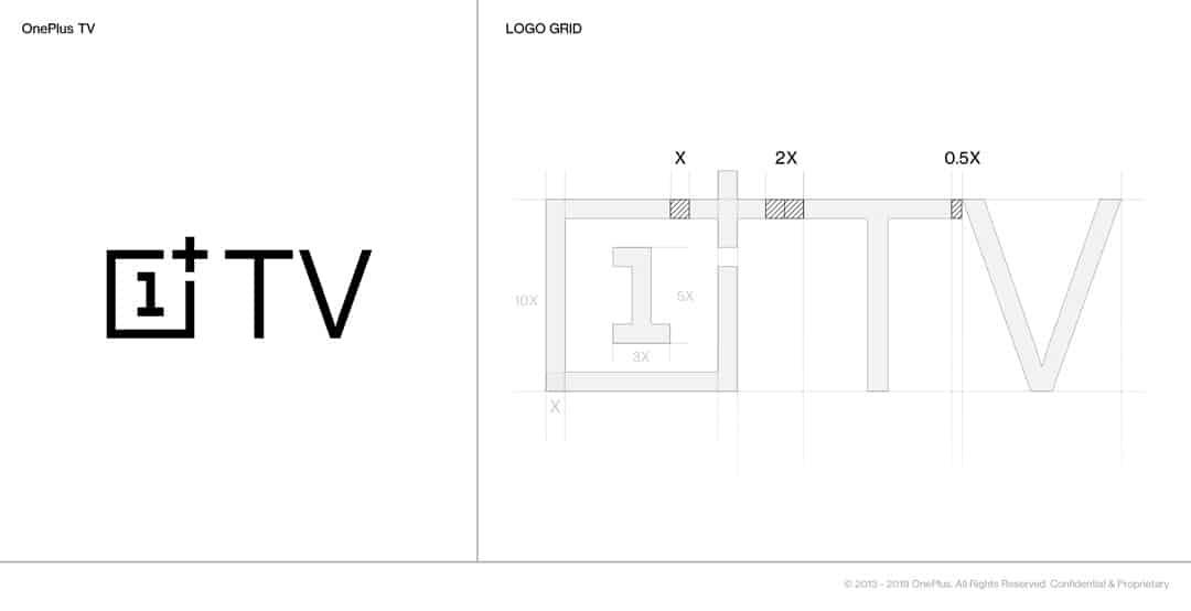 Image de la conception du logo de la futur OnePlus TV