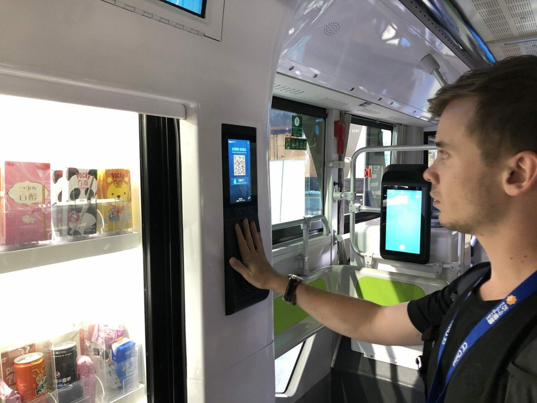 CE China bus électrique autonome DeepBlue distributeur intégré