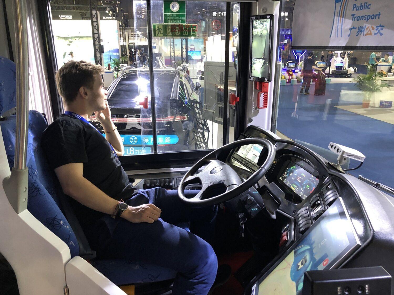 CE China bus électrique autonome DeepBlue pas de conducteur