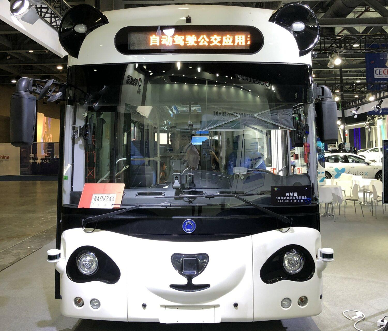 CE China bus électrique autonome DeepBlue