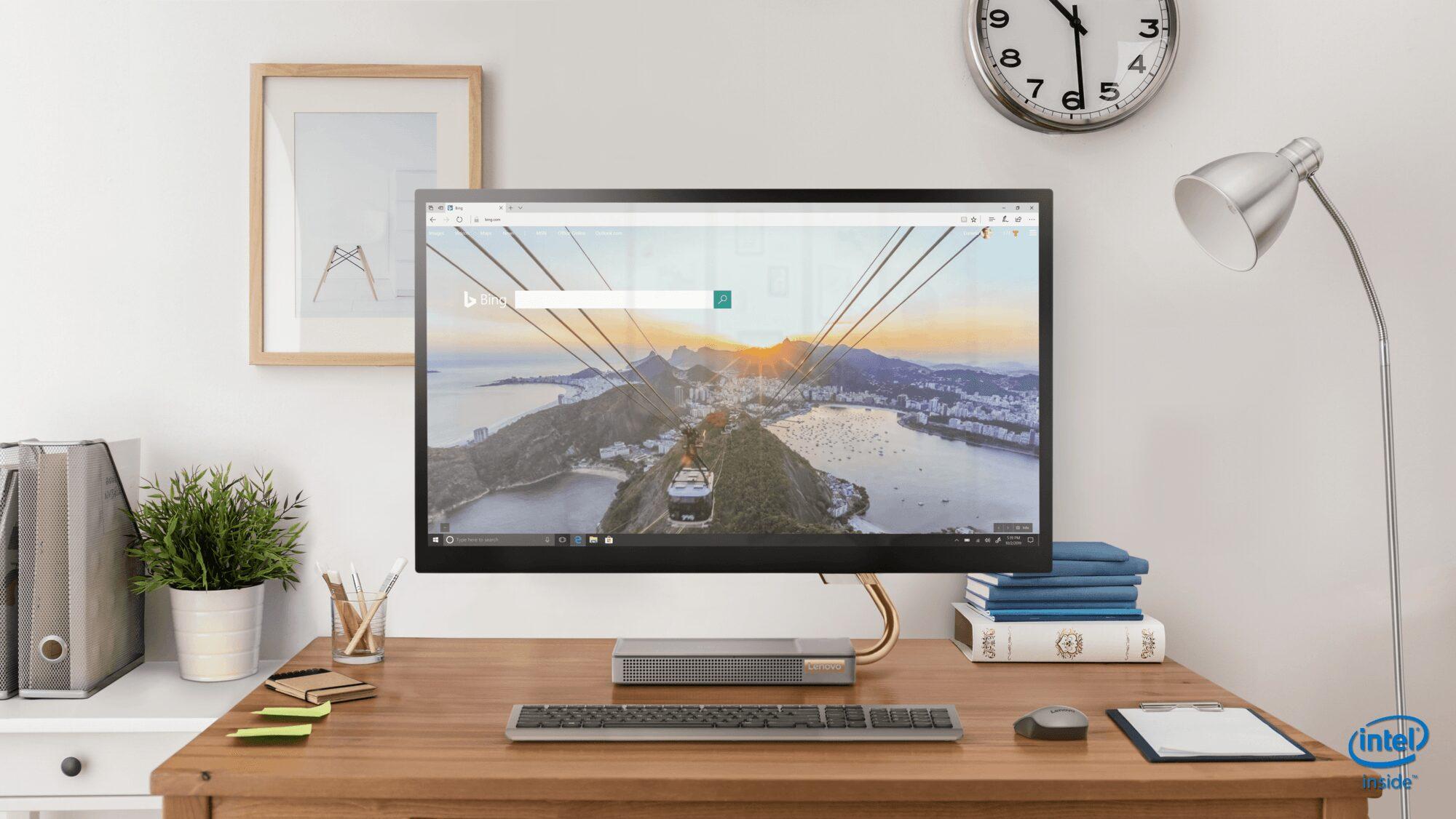 L'Ideacentre A540 de 27 pouces est proposé en couleur gris minéral et il est équipé des processeurs Intel Core. // IFA 2019