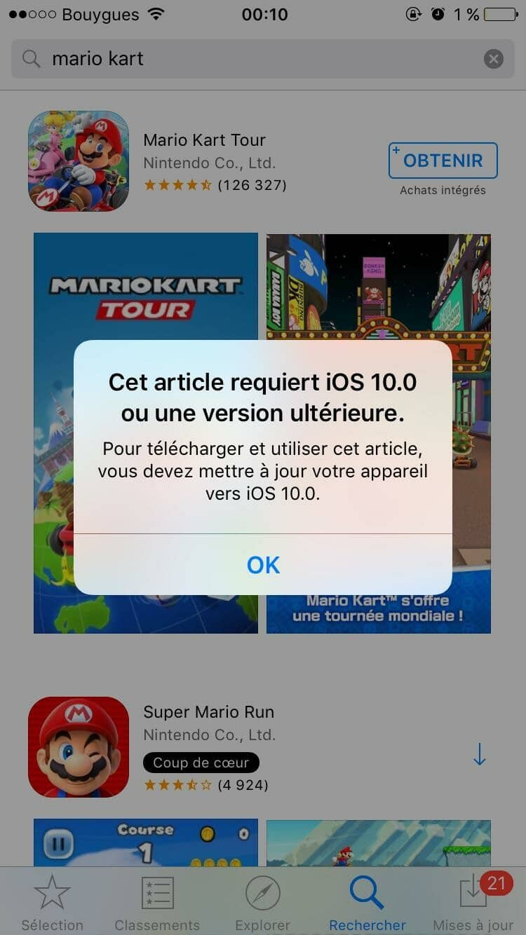 IOS Mario Kart solution
