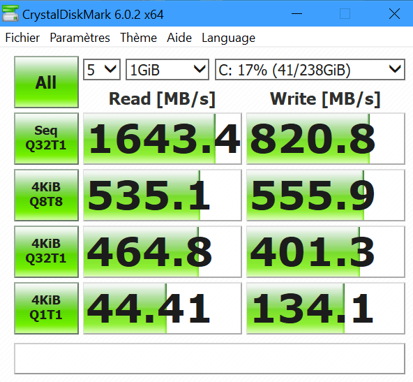 Performances SSD