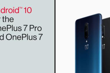 OnePlus 7 Pro Android 10 sur smartphone mise à jour