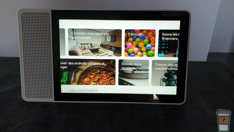 Test Lenovo Smart Display - Page de fonctionnalité